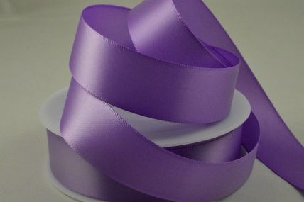 50mm Purple Double Faced Satin Ribbon x 25 Metre Rolls!