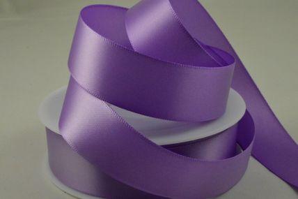 25mm Purple Double Faced Satin Ribbon x 25 Metre Rolls!