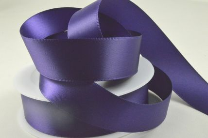 25mm Purple Double Faced Satin Ribbon x 50 Metre Rolls!