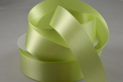 3mm, 7mm, 10mm, 15mm, 25mm & 38mm Light Green Double Sided Satin Rolls