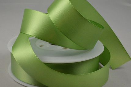 3mm, 7mm, 10mm, 15mm, 25mm & 50mm Pale Green Double Sided Satin Rolls
