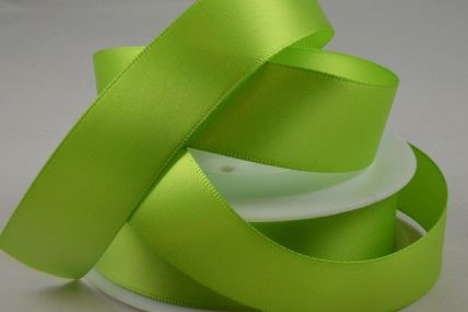 3mm, 7mm, 10mm, 15mm, 25mm, 38mm & 50mm Green Double Sided Satin Rolls!