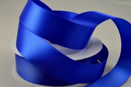 3mm, 7mm, 10mm, 15mm, 25mm, 38mm & 50mm Royal Blue Double Sided Satin