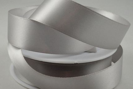 Light Silver Double Sided Satin