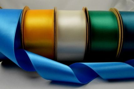 38mm Double Sided Satin Ribbon x 4 Metre Rolls!