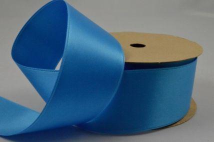 38mm Blue Double Sided Satin Ribbon x 4 Metre Rolls!