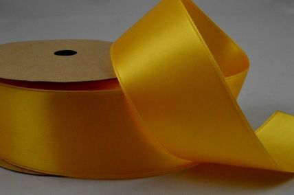 38mm Yellow Double Sided Satin Ribbon x 4 Metre Rolls!