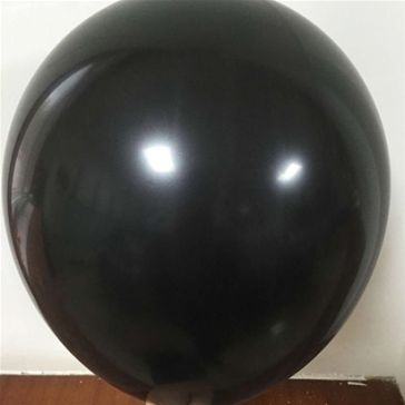 "12"" Black Latex Balloons (Pack of 6)"