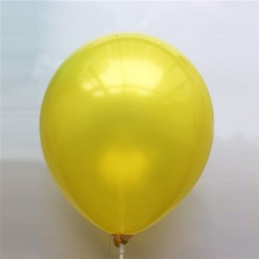 "10"" Yellow Latex Metallic Balloons (Pack of 6)"