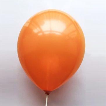"10"" Orange Latex Metallic Balloons (Pack of 6)"