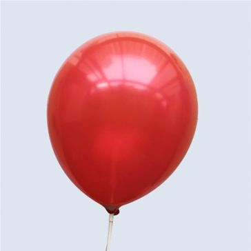 """10"""" Red Latex Metallic Balloons (Pack of 6)"""