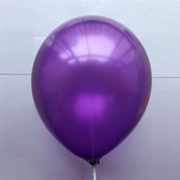 "10"" Purple Latex Metallic Balloons (Pack of 6)"