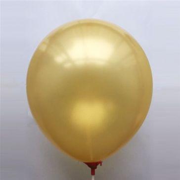 "10"" Gold Latex Metallic Balloons (Pack of 6)"