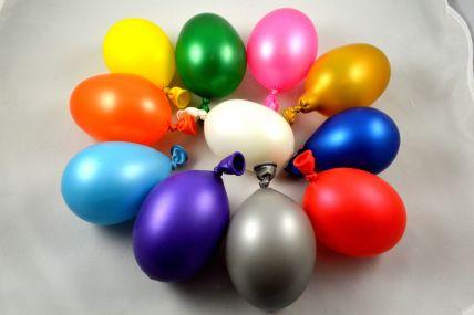 "10"" Latex Metallic Balloons (Pack of 6)"