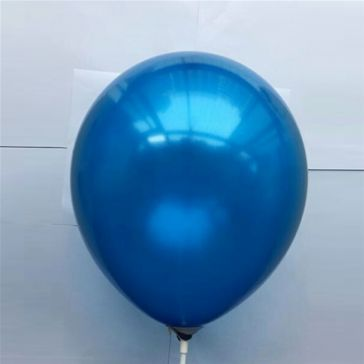 "10"" Blue Latex Metallic Balloons (Pack of 6)"