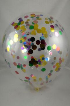 "12"" Multi Coloured Latex Confetti Balloons (Pack of 6)"