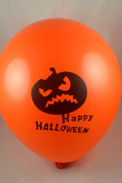 "12"" Latex Happy Halloween Balloons (Pack of 6)"