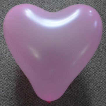 "12"" Baby Pink Love Heart Latex Balloons (Pack of 6)"