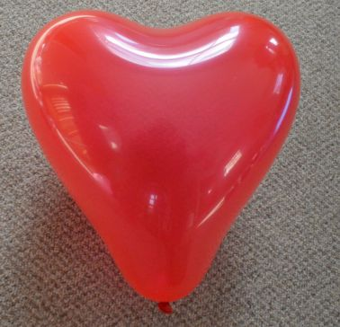 "12"" Red Love Heart Latex Balloons (Pack of 6)"