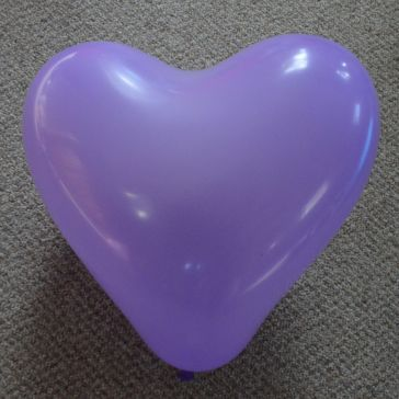 "12"" Purple Love Heart Latex Balloons (Pack of 6)"