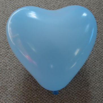 """12"""" Baby Blue Love Heart Latex Balloons (Pack of 6)"""