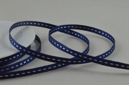 5mm Blue Centre Stitched Grosgrain Ribbon x 20 Metre Rolls!