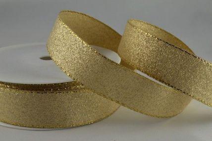 24mm & 36mm Gold Lurex Ribbon with Woven Lurex Edge x 20 Metre Rolls!