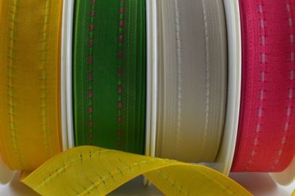 40mm Wired Colour Woven Ribbon x 20 Metre Rolls!!