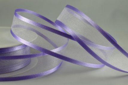 10mm, 15mm, 25mm & 40mm Lilac Satin Sheer Ribbon x 25 Metre Rolls!