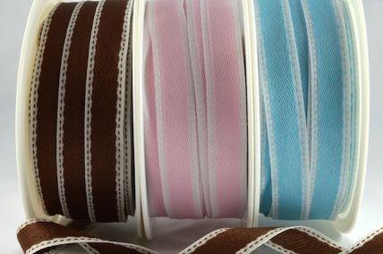 16mm Woven Pattern Side Stitch ribbon x 20 Metre Rolls!!