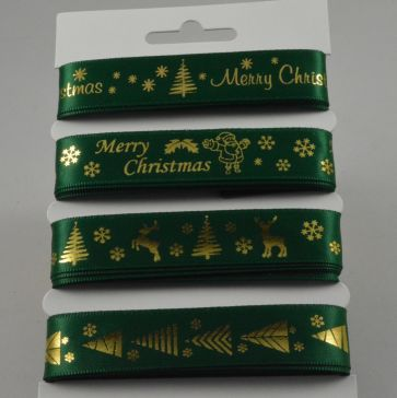 55086 - Green Merry Christmas Selection Pack : 4 x 2 Metre Lengths