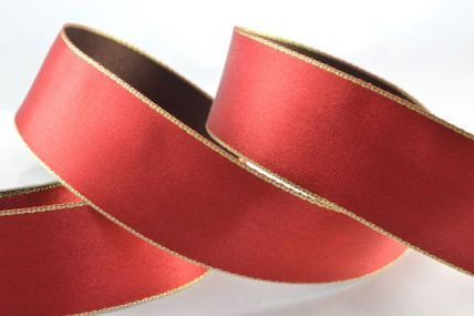 54260 - 38mm Red & Brown Double Sided Ribbon x 20 metre rolls!!