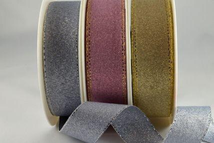 24mm & 36mm Lurex Ribbon with Colour Woven Lurex Edge x 20 Metres!