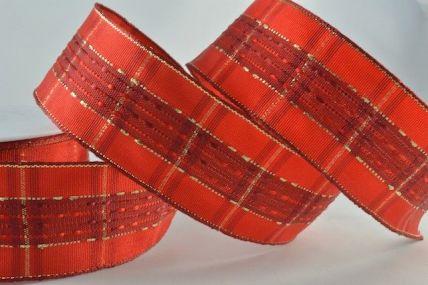 40mm Wired Glamorous Tartan Ribbon x 20 Metre Rolls!!