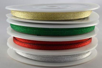 54107 - 3mm Colour Woven Glitter Ribbon x 20 Metre Rolls!