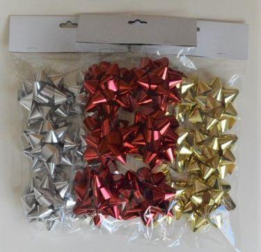 31160 - Set of 6 Metallic Self Adhesive Gift Bows