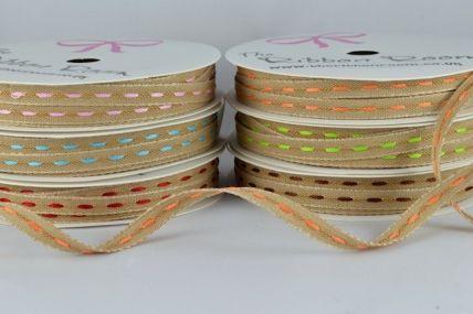 54368 - 6mm Centre Stitching Ribbon x 5 Metre Rolls!!