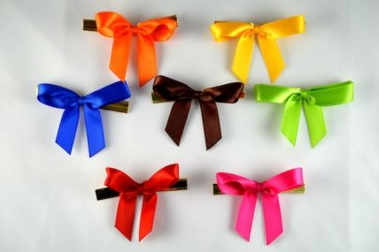 Mini Bows with Twist Ties (50 or 100 pieces)