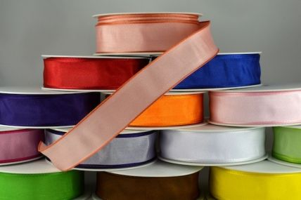 25mm, 40mm & 60mm Wired High Quality Colour Woven Ribbon x 25 metre rolls!!