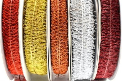 10mm Coloured Fringe Ribbon x 15 Metre Rolls!