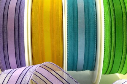 25mm & 40mm Wired Woven Edge Ribbon x 20 Metre Rolls!!
