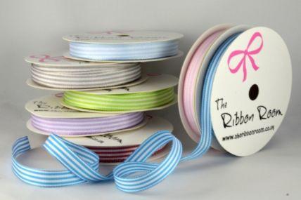 54231 - 10mm Woven Stripes Ribbon x 5 Metre Rolls!!