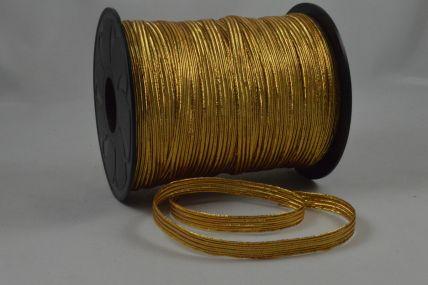 8mm Metallic Gold Elastic ribbon x 100 Metre Rolls!!