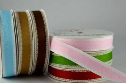 54493 - 16mm Patterned Side Stitch Ribbon x 4 Metre Rolls!