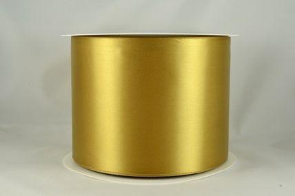 100mm Gold Single Sided Satin Sash ribbon x 50 metre rolls!!