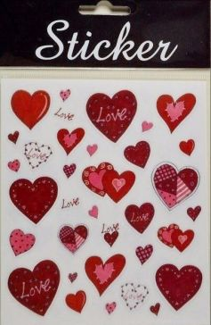 Love Red Hearts Sticker Selection