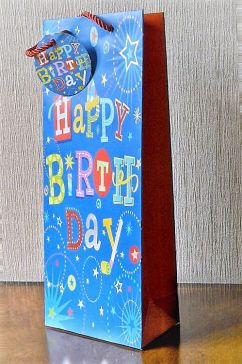 Happy Birthday Bottle Bag & Tag!!