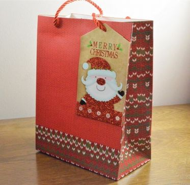 Small & Medium Red Merry Christmas Gift Bags & Santa Tag!!