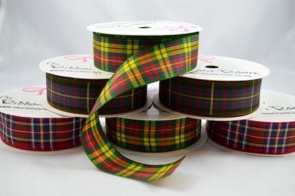 16mm & 25mm Tartan Ribbon x 4 Metre Rolls!