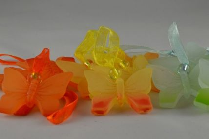 35mm Butterfly with a sheer loop x 12 pieces per pack!